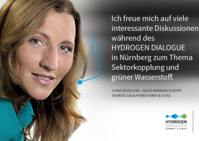 Ilona Dickschas - Sales Manager Europe - SIEMENS Gas & Power GmbH & Co. KG