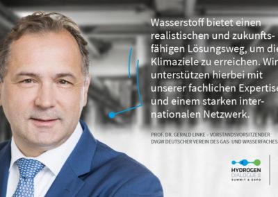 Prof Dr. Gerald Linke - Vorstandsvorsitzender DVGW (Deutscher Verein des Gas- und Wasserfaches e.V.)
