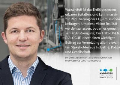 Dr. Daniel Teichmann - CEO und Gründer von Hydrogenious LOHC Technologies